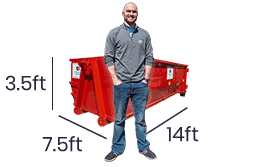 10 yard dumpster rentals service for spring cleaning