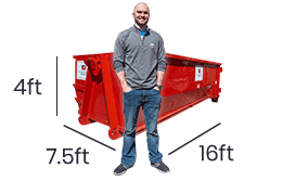 15 yard dumpster rentals service for slightly larger garage or basement cleanouts